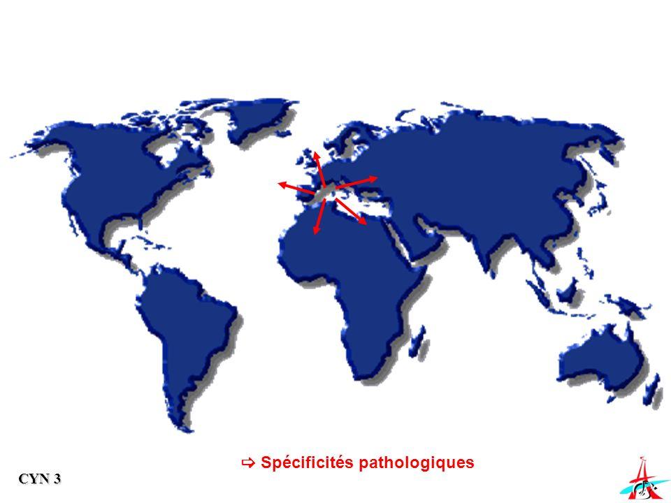  Spécificités pathologiques