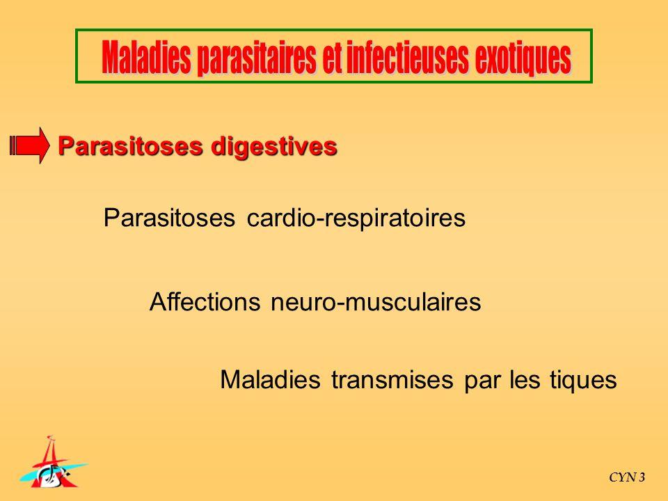 Maladies parasitaires et infectieuses exotiques