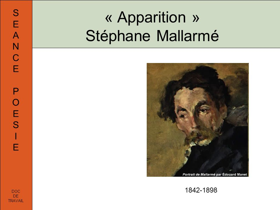 « Apparition » Stéphane Mallarmé