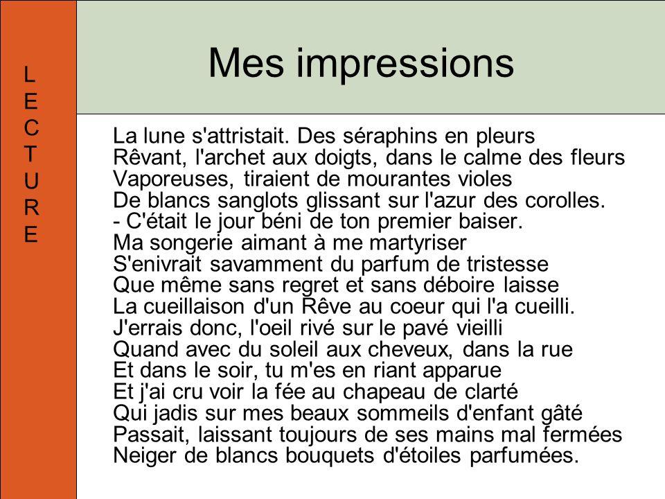 Mes impressions L E C T U R