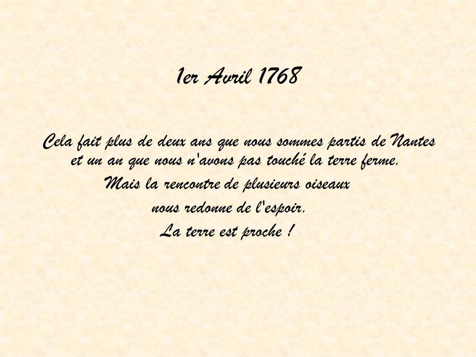 1er Avril 1768