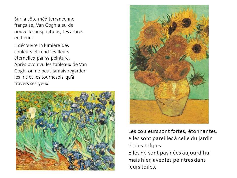 Sur la côte méditerranéenne française, Van Gogh a eu de nouvelles inspirations, les arbres en fleurs.