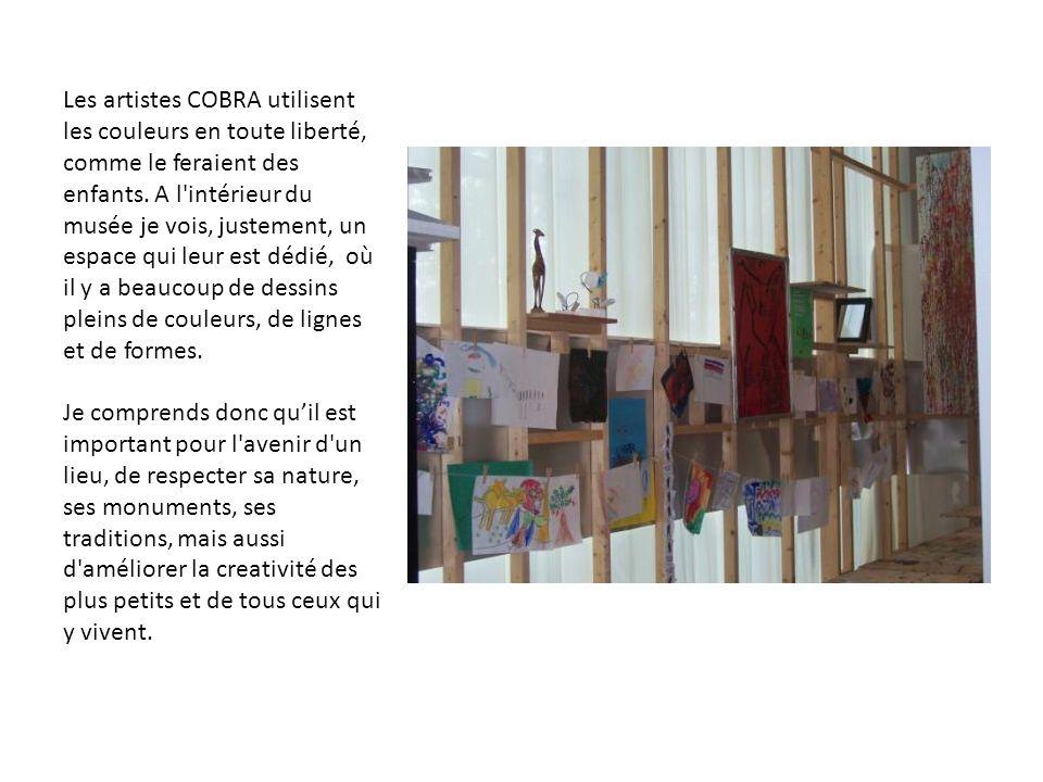 Les artistes COBRA utilisent les couleurs en toute liberté, comme le feraient des enfants.