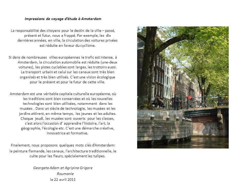 Impressions de voyage d'étude à Amsterdam