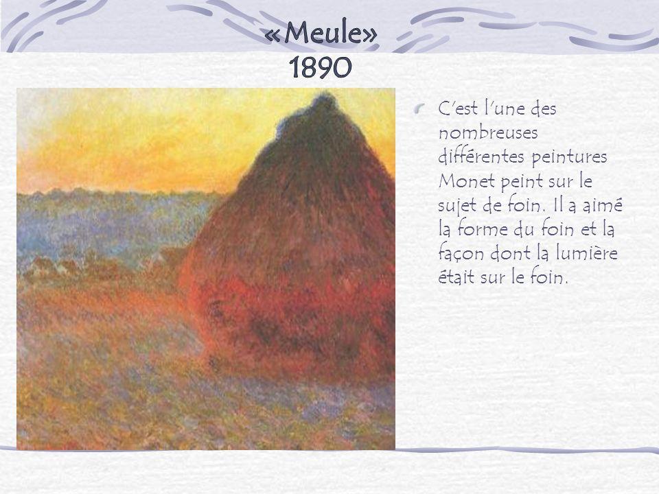 «Meule» 1890.