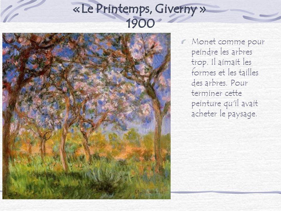 «Le Printemps, Giverny » 1900