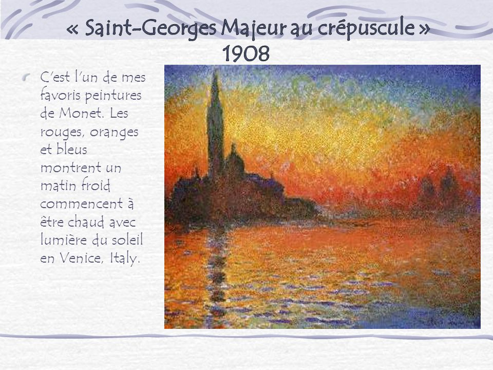 « Saint-Georges Majeur au crépuscule » 1908
