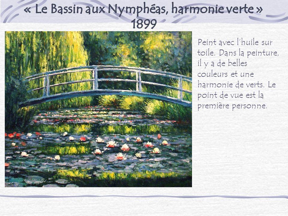 « Le Bassin aux Nymphéas, harmonie verte »