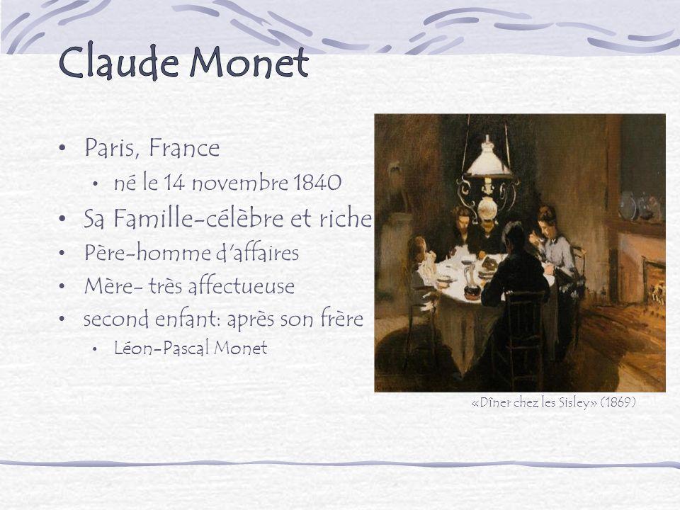 Claude Monet Paris, France Sa Famille-célèbre et riche