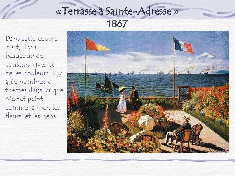 «Terrasse à Sainte-Adresse » 1867