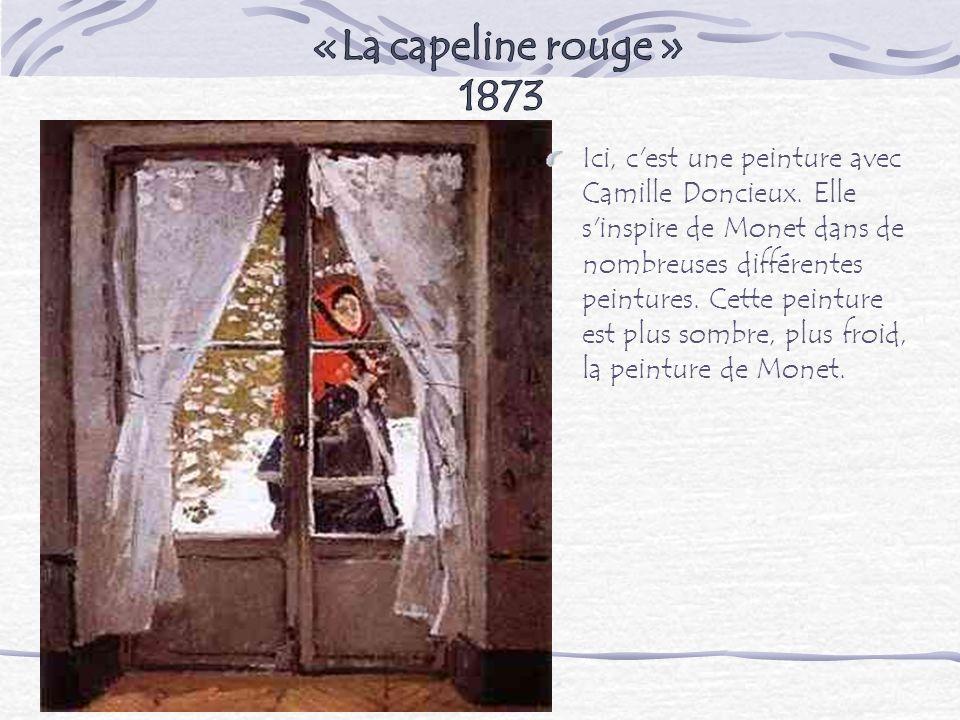 «La capeline rouge » 1873.