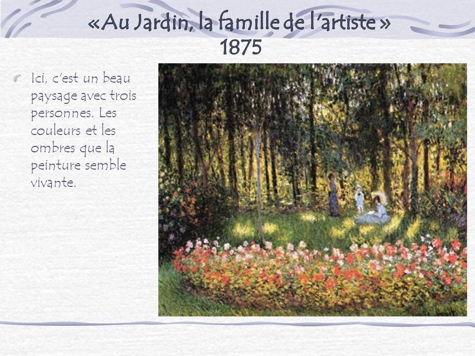«Au Jardin, la famille de l artiste » 1875