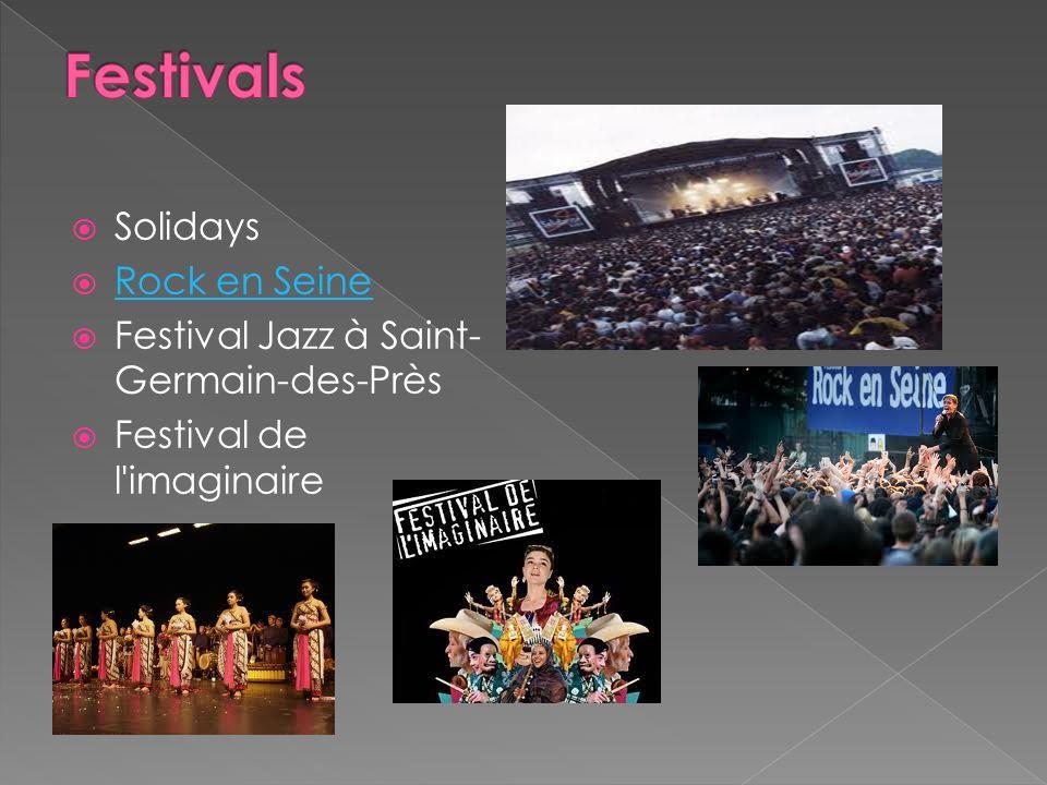 Festivals Solidays Rock en Seine