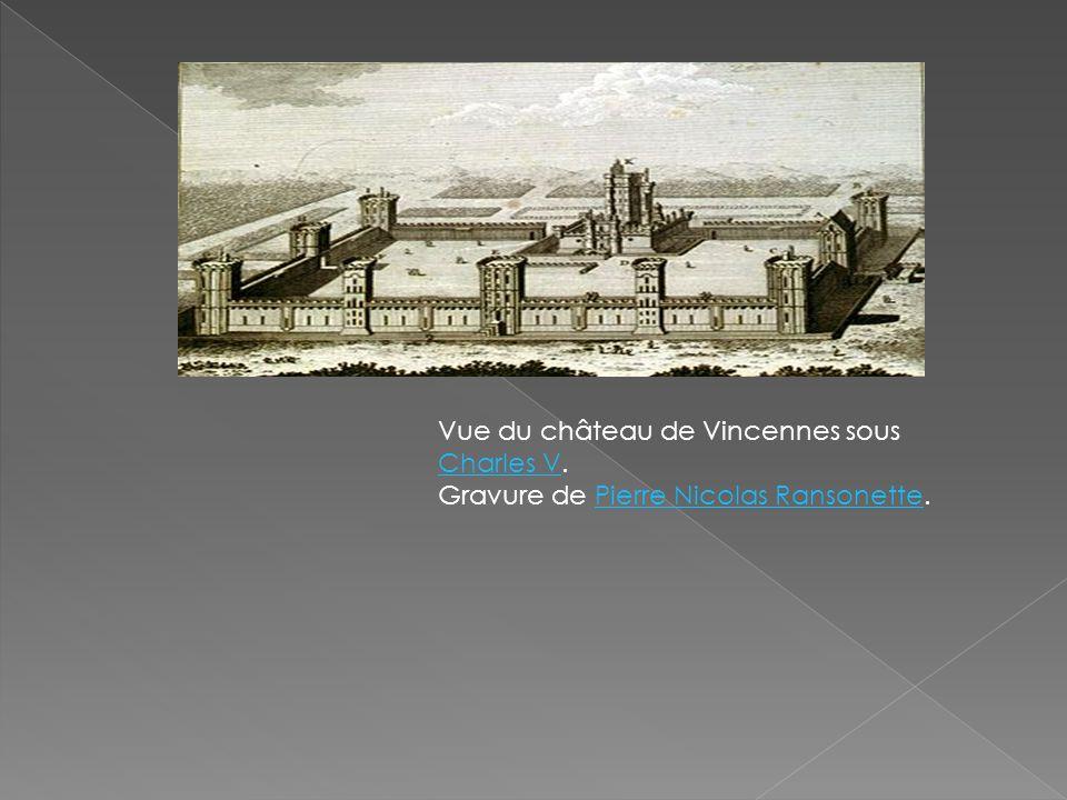Vue du château de Vincennes sous Charles V