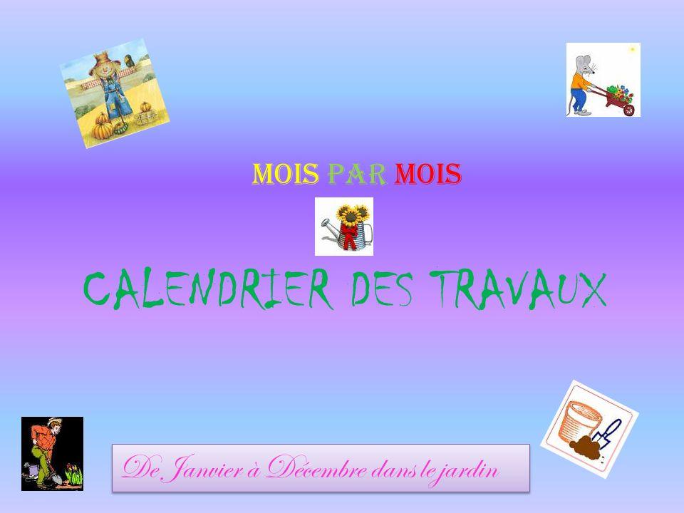 CALENDRIER DES TRAVAUX