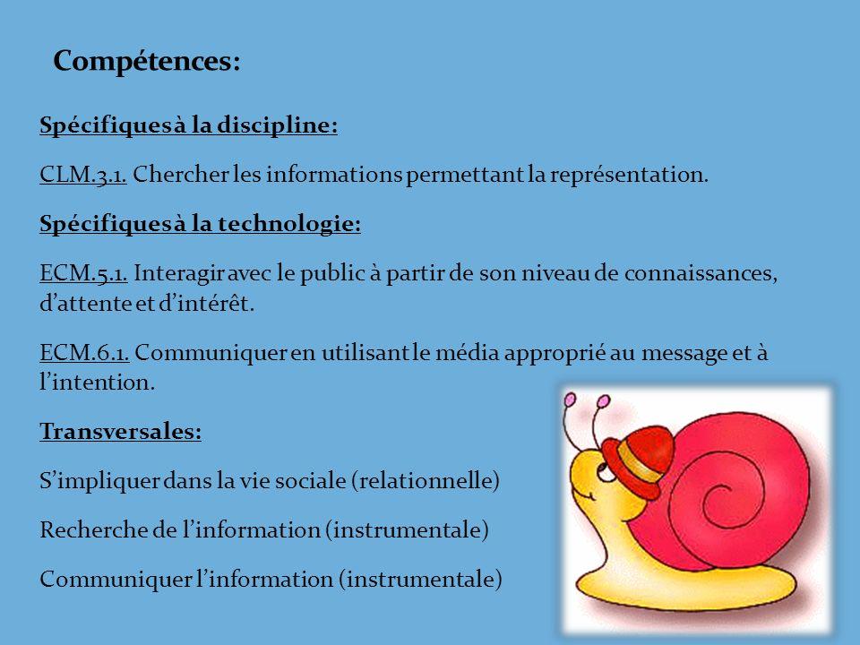 Compétences: Spécifiques à la discipline: