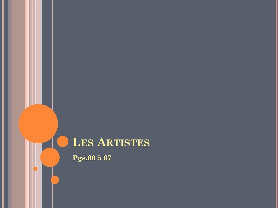 Les Artistes Pgs.60 à 67