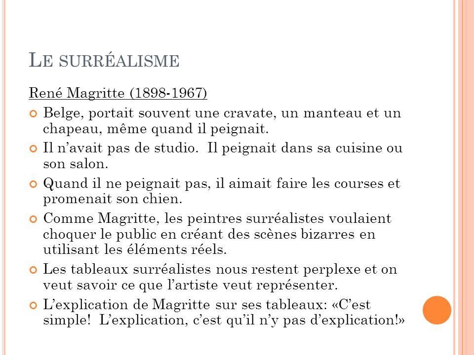 Le surréalisme René Magritte (1898-1967)