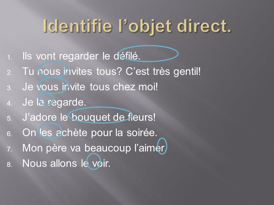 Identifie l'objet direct.