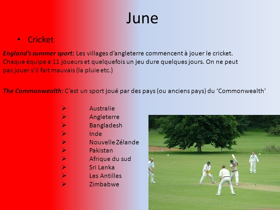 June Cricket.