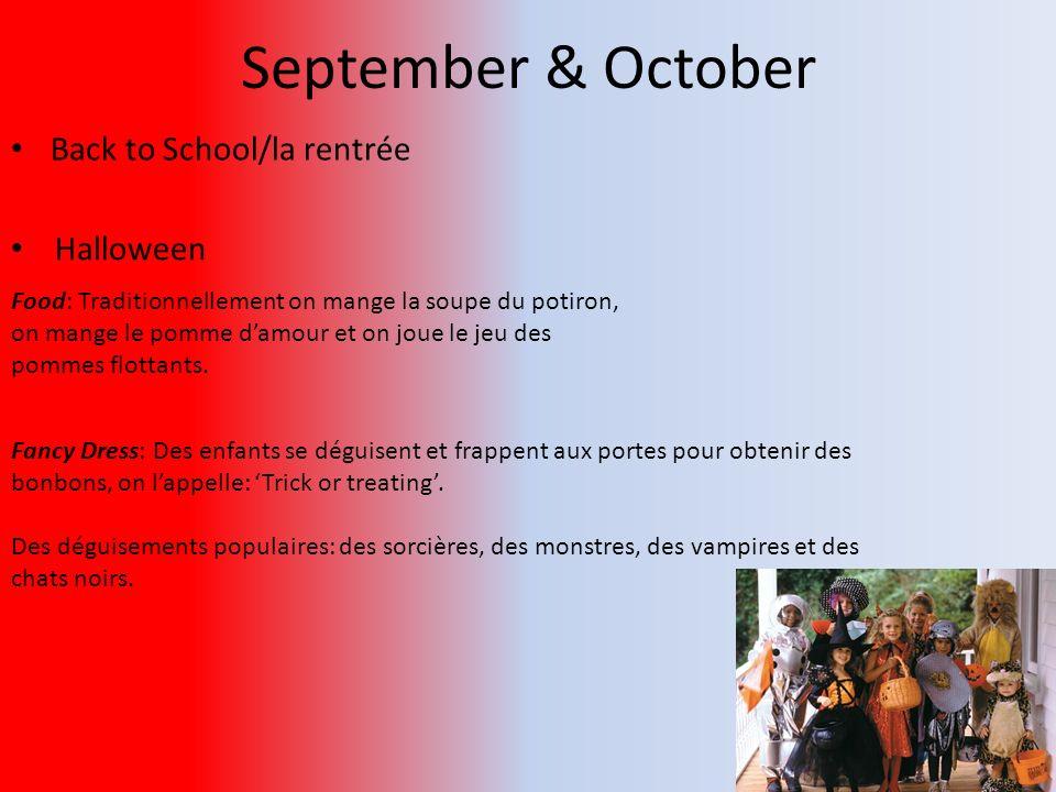 September & October Back to School/la rentrée Halloween
