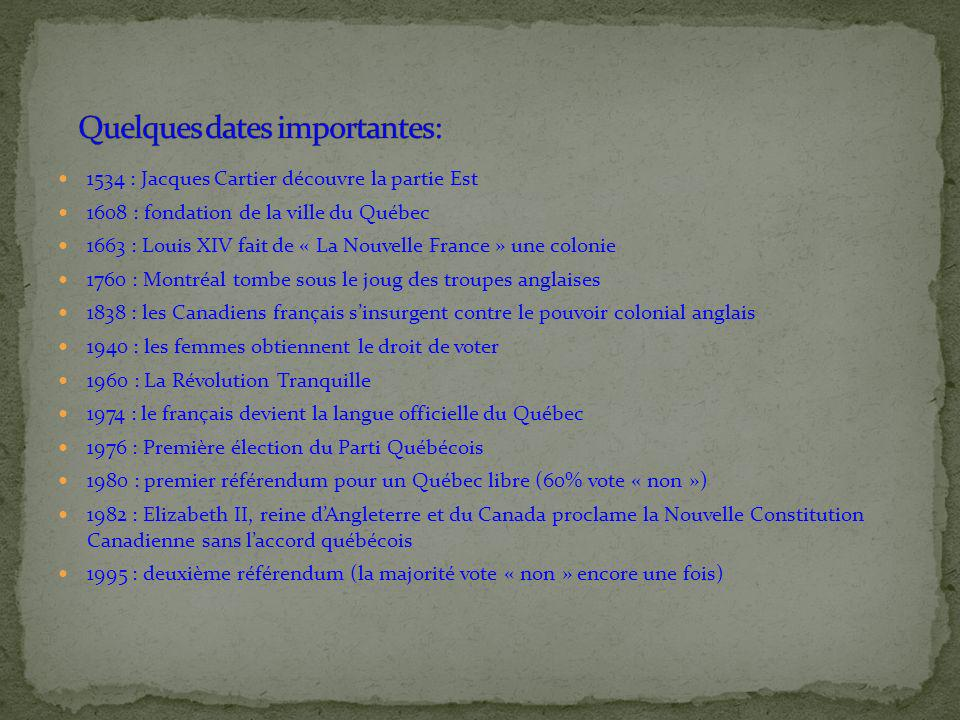 Quelques dates importantes: