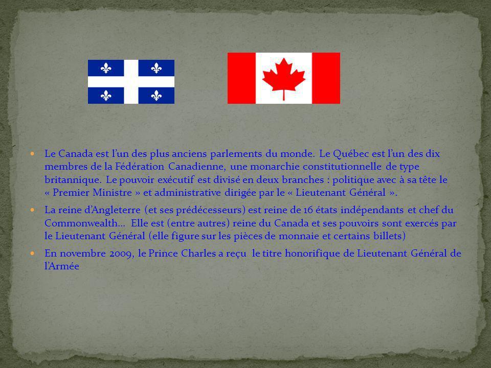 Le Canada est l'un des plus anciens parlements du monde