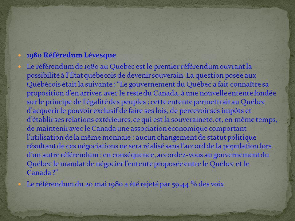 1980 Référedum Lévesque