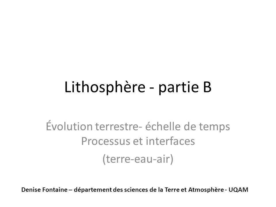Évolution terrestre- échelle de temps Processus et interfaces