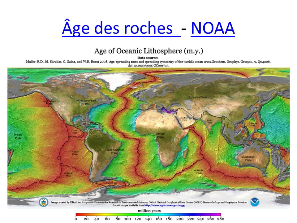 Âge des roches - NOAA