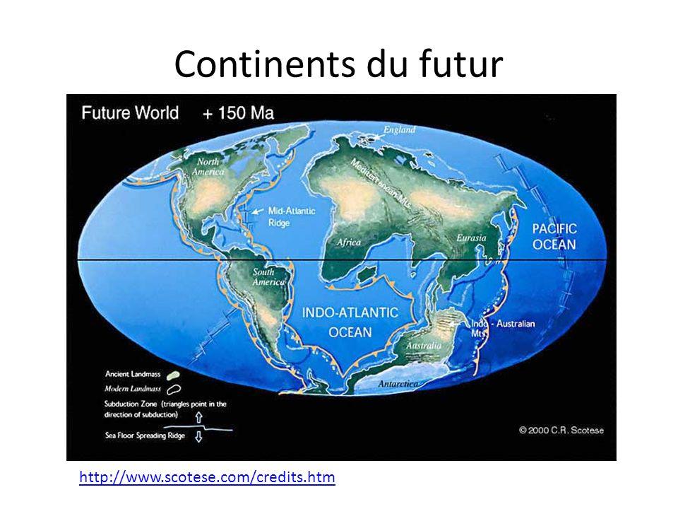 Continents du futur http://www.scotese.com/credits.htm