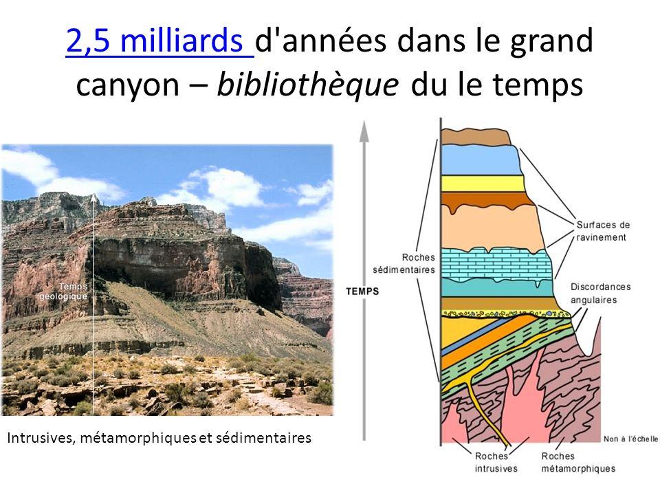 2,5 milliards d années dans le grand canyon – bibliothèque du le temps
