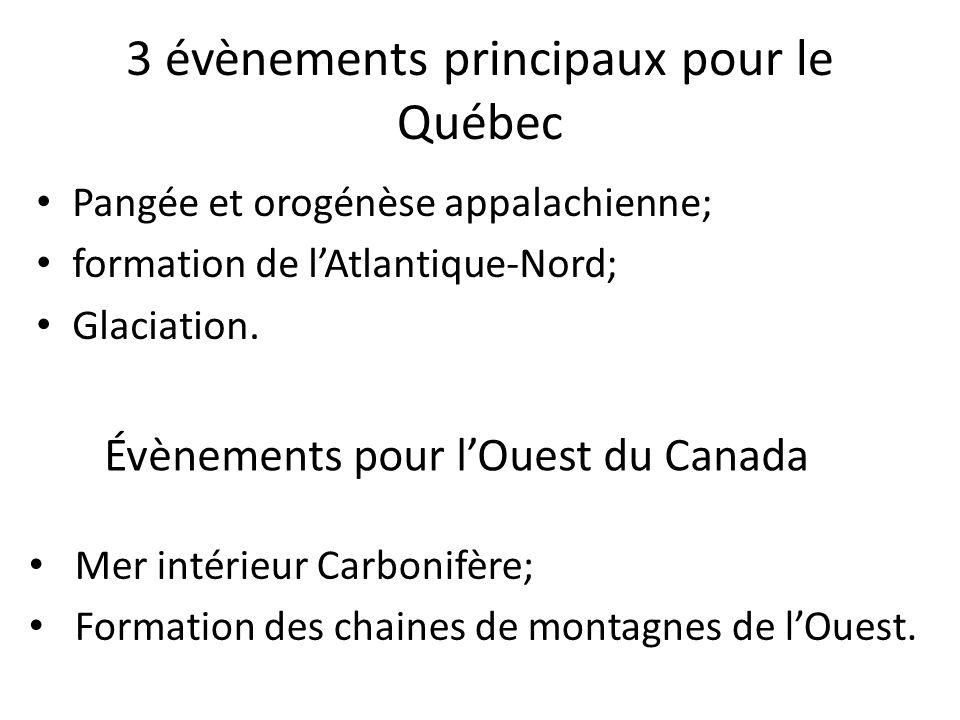 3 évènements principaux pour le Québec