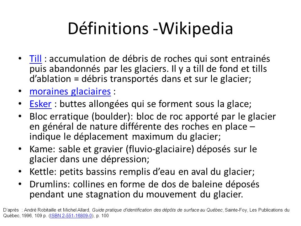 Définitions -Wikipedia