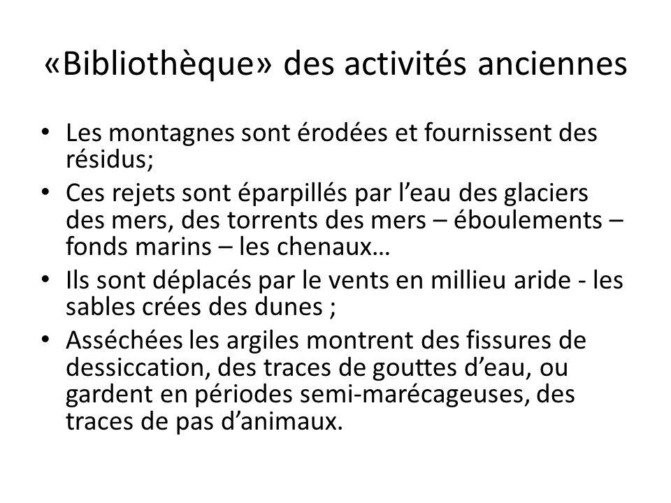 «Bibliothèque» des activités anciennes