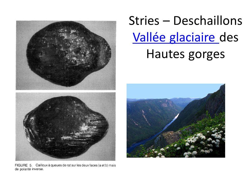 Stries – Deschaillons Vallée glaciaire des Hautes gorges