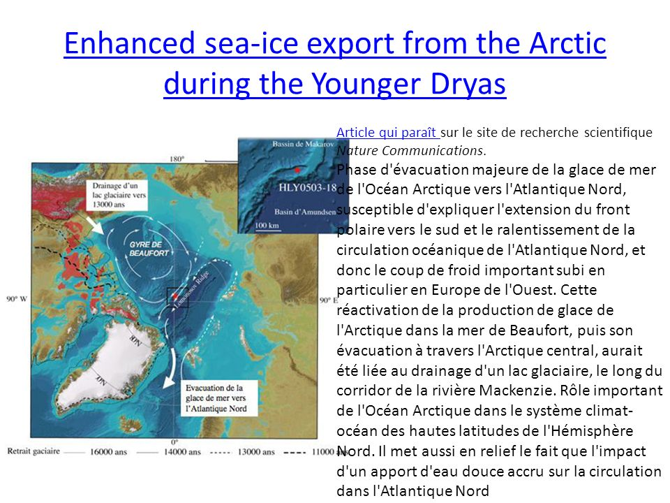Enhanced sea-ice export from the Arctic during the Younger Dryas
