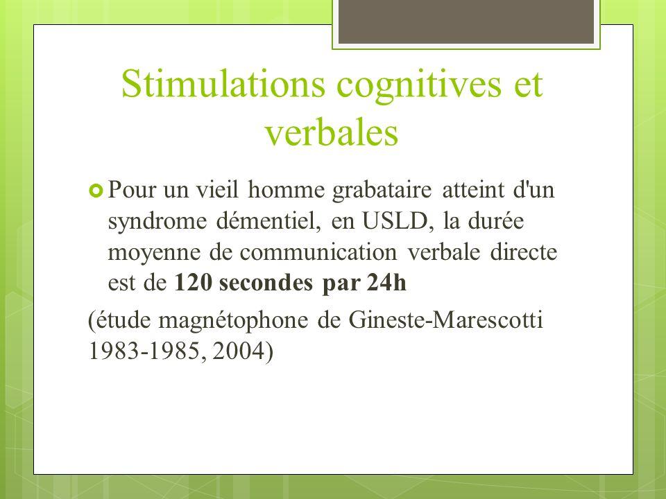 Stimulations cognitives et verbales