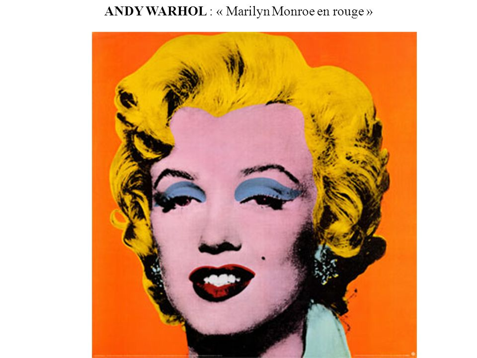 ANDY WARHOL : « Marilyn Monroe en rouge »