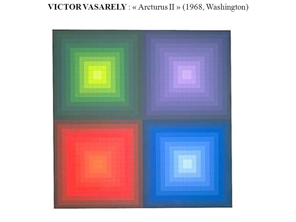 VICTOR VASARELY : « Arcturus II » (1968, Washington)