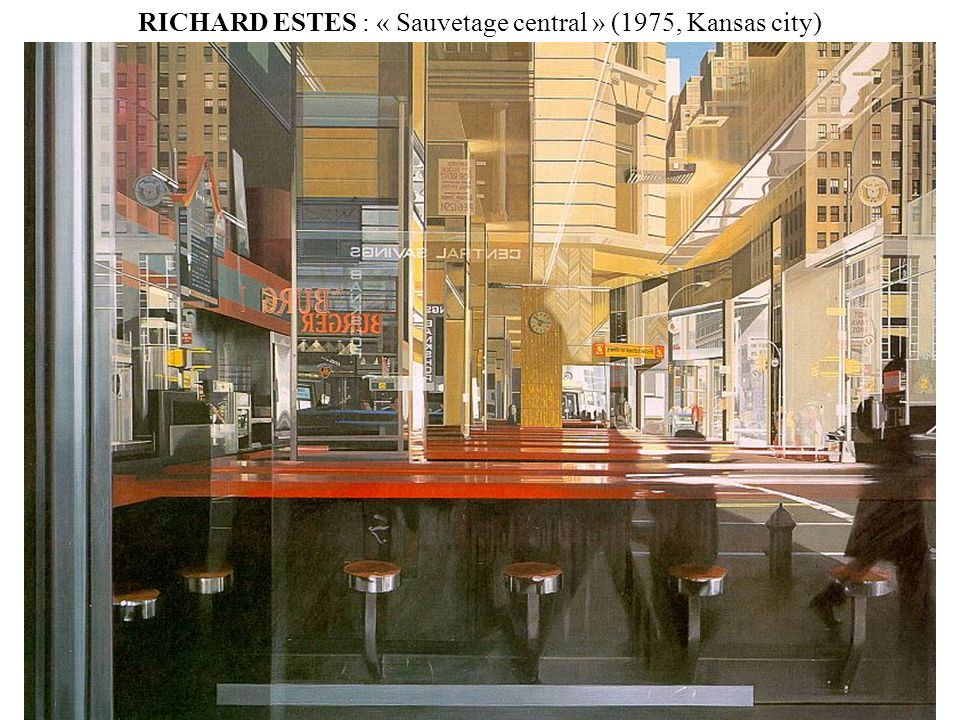 RICHARD ESTES : « Sauvetage central » (1975, Kansas city)