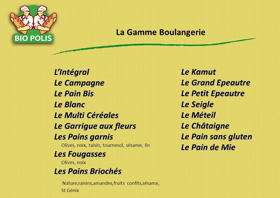 La Gamme Boulangerie L'Intégral Le Campagne Le Pain Bis Le Blanc