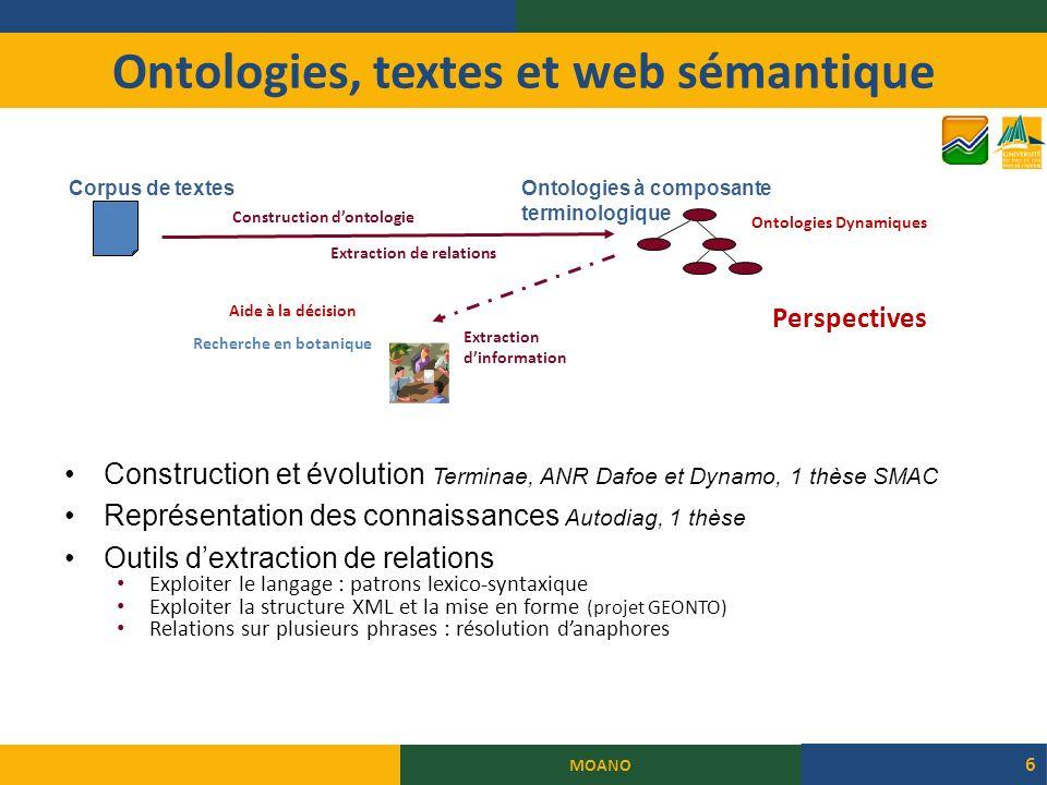 Ontologies, textes et web sémantique