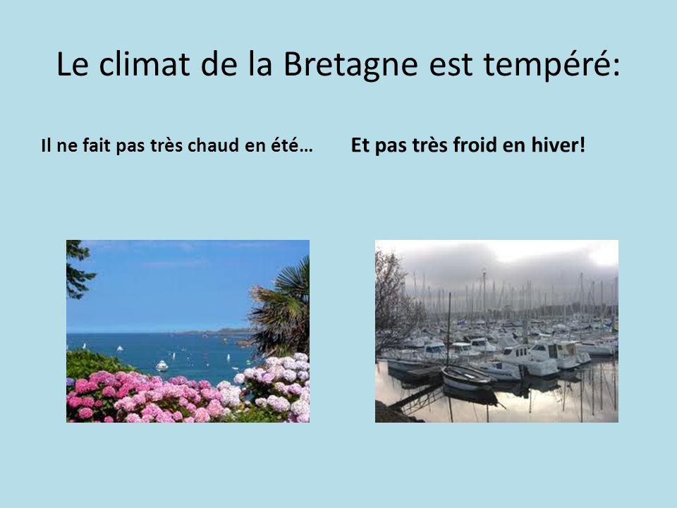 Le climat de la Bretagne est tempéré: