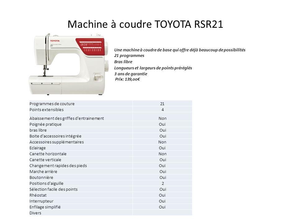 Machine à coudre TOYOTA RSR21
