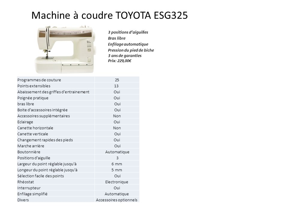 machines coudre toyota pour mondial textiles ppt video online t l charger. Black Bedroom Furniture Sets. Home Design Ideas