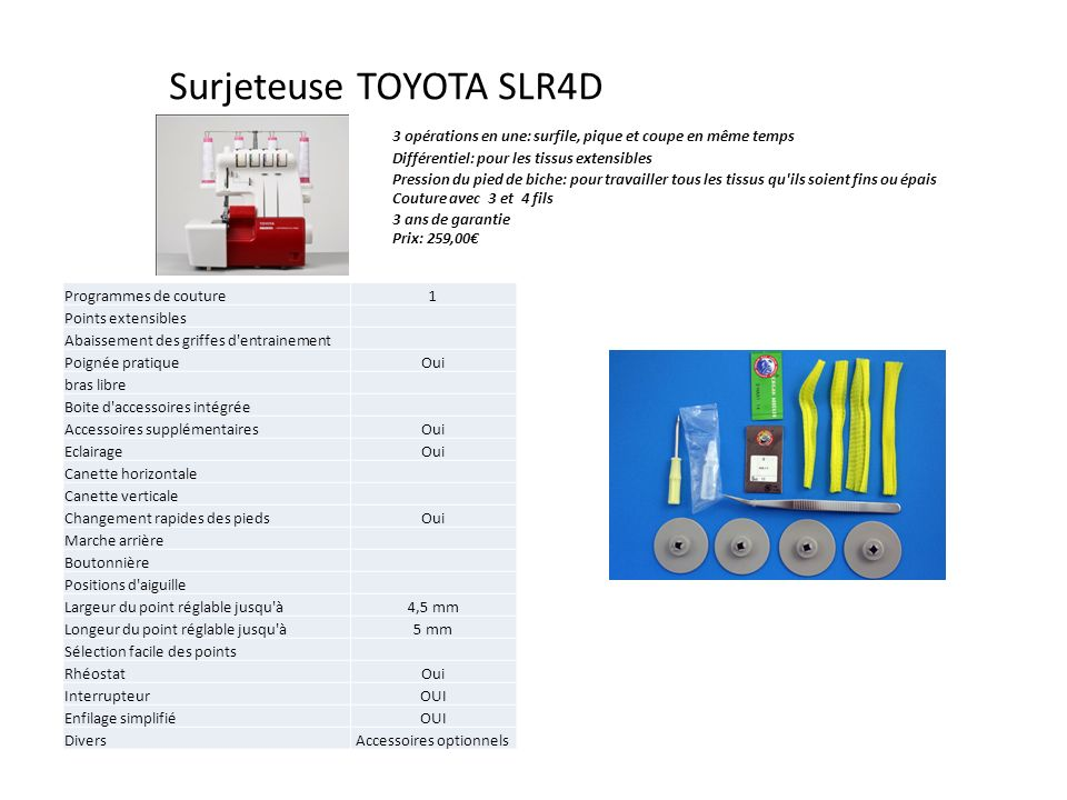 Surjeteuse TOYOTA SLR4D