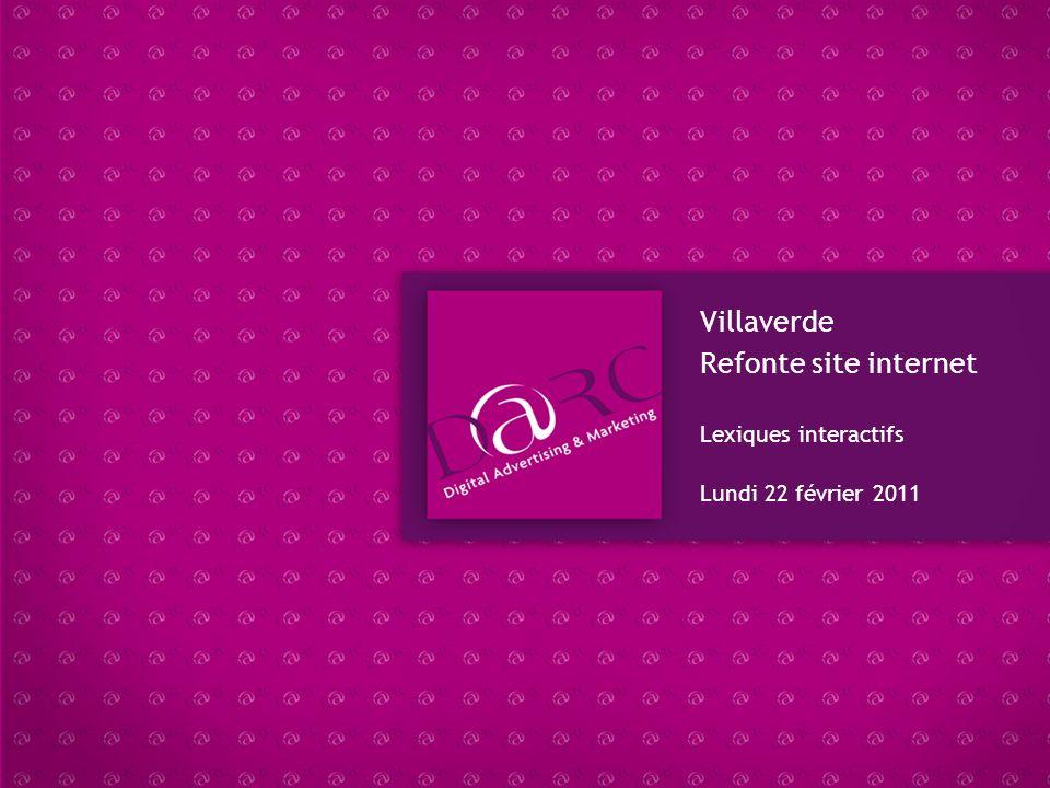 Villaverde Refonte site internet Lexiques interactifs
