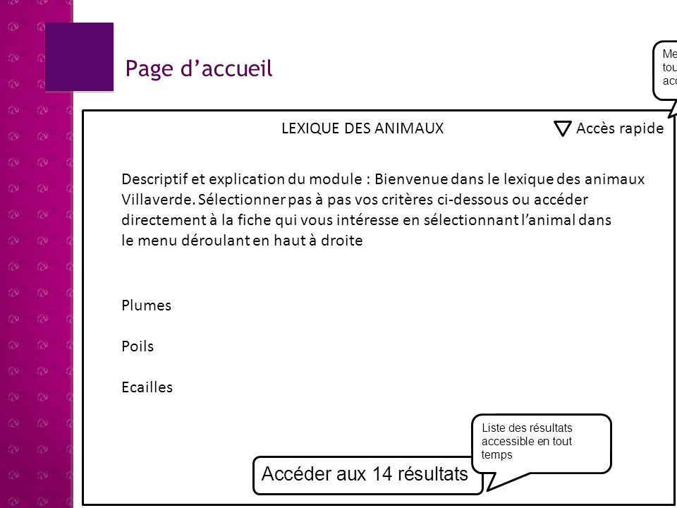 Page d'accueil Accéder aux 14 résultats LEXIQUE DES ANIMAUX