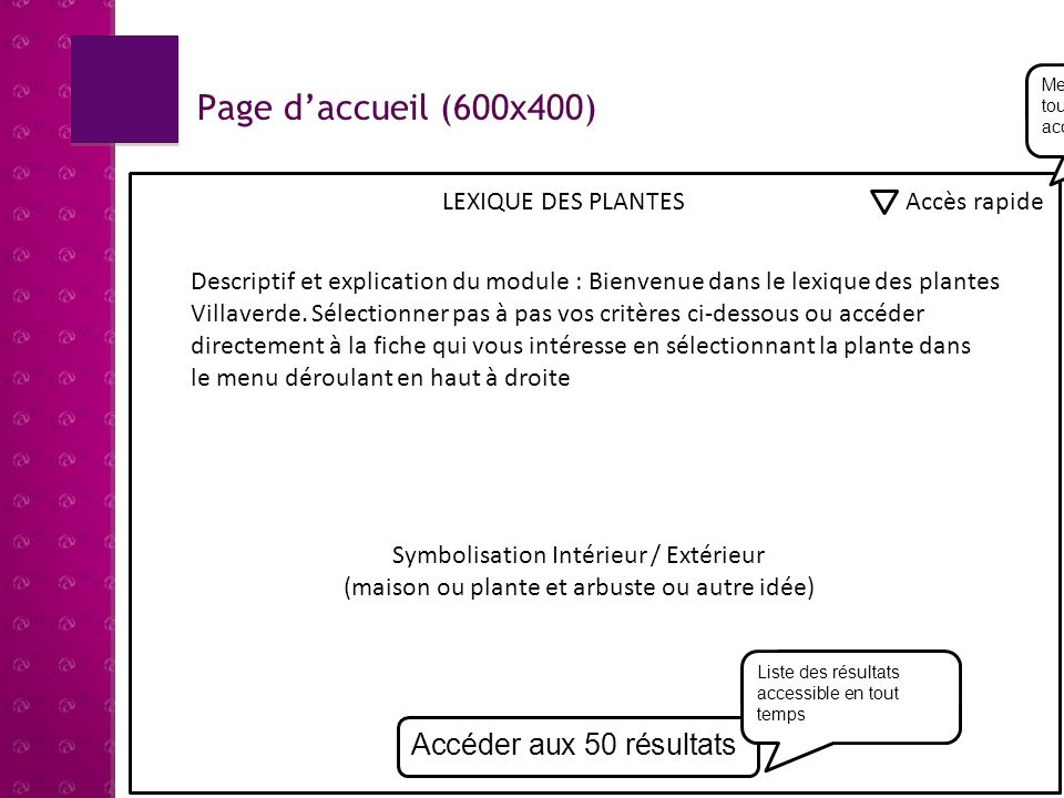 Page d'accueil (600x400) Accéder aux 50 résultats LEXIQUE DES PLANTES